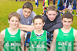 Colaiste na Sceilige, Caherciveen displaying their talents at the Kerry Vocational School's Cross Country athletic championships in Killarney on Friday l-r: Andy Quigley, Matthew O'Sullivan, Fionan Clifford, Sean O'Sullivan and Cillian O'Donovan