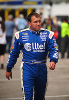 Jul. 3, 2008; Daytona Beach, FL, USA; NASCAR Sprint Cup Series driver Ryan Newman during practice for the Coke Zero 400 at Daytona International Speedway. Mandatory Credit: Mark J. Rebilas-