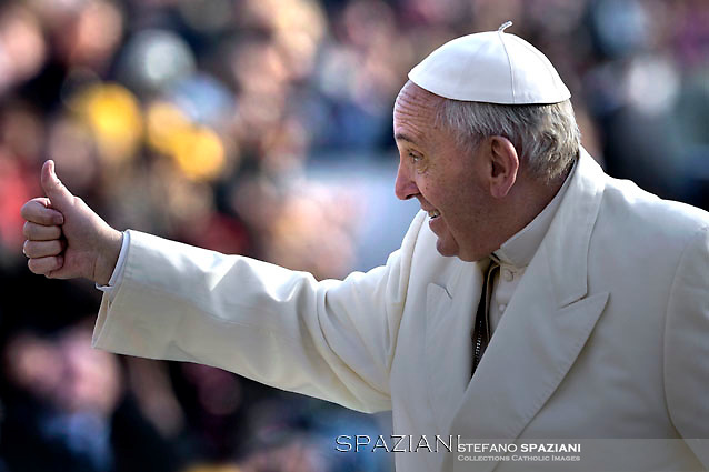 Pope Francis  during his weekly general audience in St. Peter square at the Vatican, Wednesday.December 9, 2015.