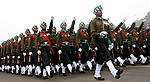 (130117) -- NEW DELHI, Jan. 17, 2013 () -- Indian Army soldiers march during the rehearsal for the forthcoming Republic Day Parade at the historical Rajpath in New Delhi, India, Jan. 17, 2013. India will celebrate its Republic Day on Jan. 26. (/Partha Sarkar)