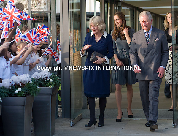 "KATE ACCOMPANIES PRINCE CHARLES AND CAMILLA.The Prince of Wales, President of The Princes Foundation for Children & the Arts, accompanied by The Duchess of Cornwall, introduced The Duchess of Cambridge to the work of one of His Royal Highnesss education charities, The Princes Foundation for Children and the Arts. Their Royal Highnesses met school children participating in Great Art Quest, a project run by The Princes Foundation for Children and the Arts at Dulwich Picture Gallery, London 15 March 2012.Mandatory Credit Photo: ©DIAS/NEWSPIX INTERNATIONAL..**ALL FEES PAYABLE TO: ""NEWSPIX INTERNATIONAL""**..IMMEDIATE CONFIRMATION OF USAGE REQUIRED:.Newspix International, 31 Chinnery Hill, Bishop's Stortford, ENGLAND CM23 3PS.Tel:+441279 324672  ; Fax: +441279656877.Mobile:  07775681153.e-mail: info@newspixinternational.co.uk"