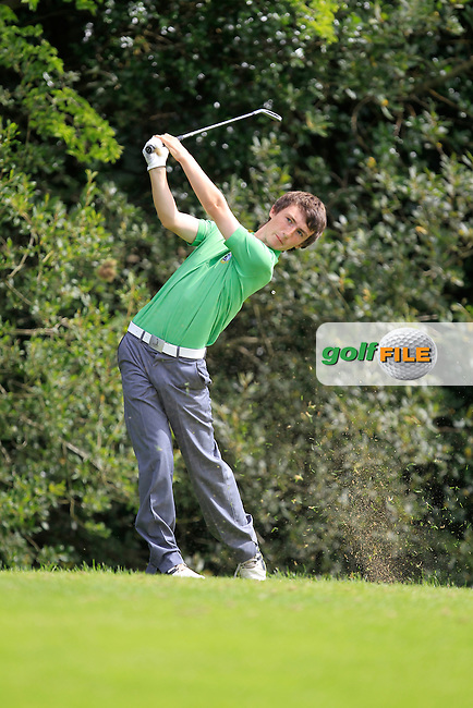 Sean Doyle(Connacht) on the 4th tee during the Boys Under 15 Interprovincial Championship Afternoon Round at the West Waterford Golf Club on Wednesday 22nd August 2013 <br /> Picture:  Thos Caffrey/ www.golffile.ie