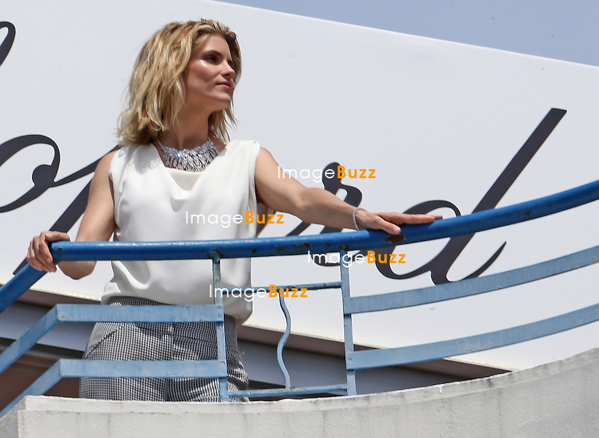 Alice Taglioni is seen at the 'Martinez hotel balcony for a Shooting (Chopard) during the 67th Annual Cannes Film Festival <br /> France, Cannes, May 16, 2014.
