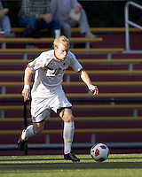 Boston College midfielder Kyle Bekker (10) dribbles the ball. Boston College defeated Harvard University, 2-0, at Newton Campus Field, October 11, 2011.