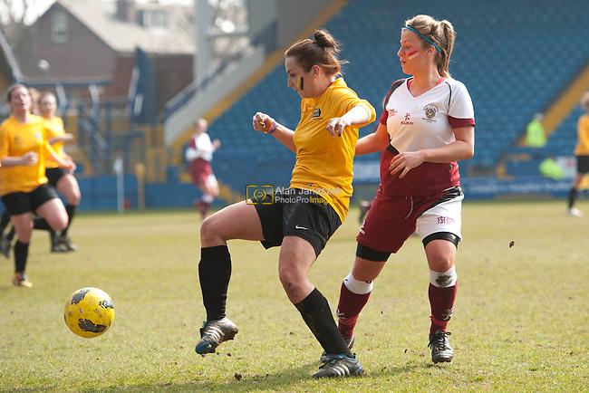 University of Sheffield v Sheffield Hallam football 1 (Women) at the Hillsborough Stadium home to Sheffield Wednesday FC. Result 1-3