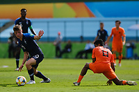 17th November 2019; Bezerrao Stadium, Brasilia, Distrito Federal, Brazil; FIFA U-17 World Cup football 3rd placed game 2019, Netherlands versus France; Ian Maatsen of Netherlands beaten by the run from Adil Aouchiche of France<br />  - Editorial Use