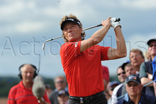 25/07/2010 Bernard Langer (GER)  in action in the final round of the Mastercard British Senior Open Golf Championship on the Championship Course at Carnoustie, Angus, Scotland