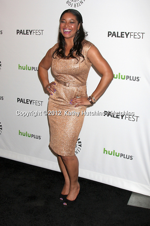 """LOS ANGELES - MAR 9:  Tamala Jones arrives at the """"Castle"""" Event at PaleyFest 2012 at the Saban Theater on March 9, 2012 in Los Angeles, CA"""
