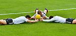 15.07.2017, Sportplatz Ri-Au, Bad Ragaz, SUI, Trainingslager VfL Wolfsburg, im Bild Mario Gomez (Wolfsburg #33), Jakub Blaszczykowski (Wolfsburg #16), Ignacio Camacho (Wolfsburg #4)<br /> <br /> Foto &copy; nordphoto / Hafner