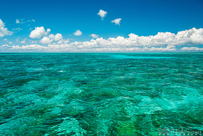 The aqua lagoon of Christmas Island (Kiritimati), Kiribati