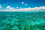 The aqua lagoon of Christmas Island (Kiritimati), Kiribati