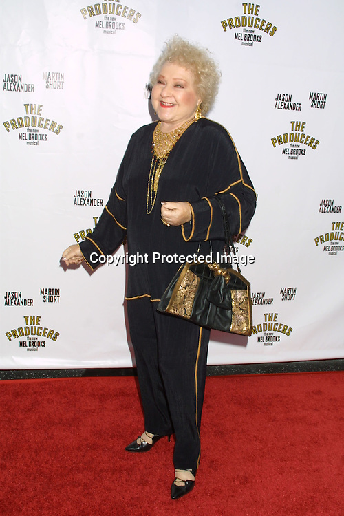 """©2003 KATHY HUTCHINS / HUTCHINS PHOTO.OPENING OF THE PLAY, """"THE PRODUCERS"""".PANTAGES THEATER.LOS ANGELES, CA.MAY 29, 2003..ESTELLE HARRIS"""