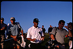 Tiger Woods smiles between holes at the Genuity Open at Doral in Miami, Fl.