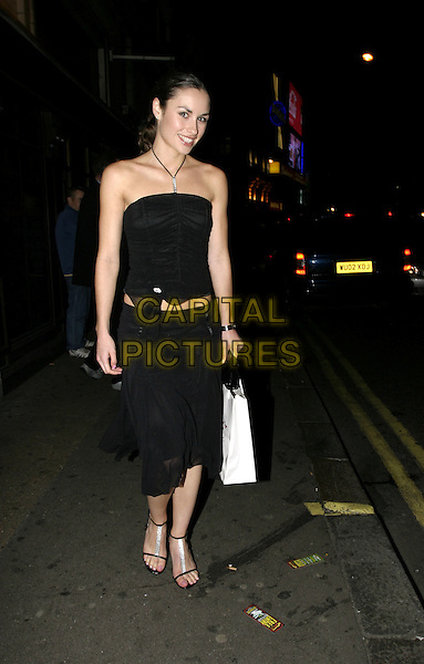 CHRISTINA BAILEY - BAILY.The Inside Soap Awards, La Rascasse, Cafe Grand Prix.Monday, September 27th, 2004.full length, black flowing skirt, black halterneck top.www.capitalpictures.com.sales@capitalpictures.com.© Capital Pictures.