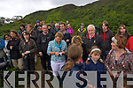 A big crowd waiting for the Eagles to be released  in Tomies Wood, Killarney National Park.