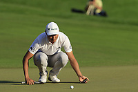 Haotong Li (CHN) lines up his putt on the 18th green at the end of Sunday's Final Round of the 2018 Turkish Airlines Open hosted by Regnum Carya Golf &amp; Spa Resort, Antalya, Turkey. 4th November 2018.<br /> Picture: Eoin Clarke | Golffile<br /> <br /> <br /> All photos usage must carry mandatory copyright credit (&copy; Golffile | Eoin Clarke)