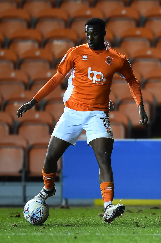 Blackpool's Viv Solomon-Otabor in action<br /> <br /> Photographer Richard Martin-Roberts/CameraSport<br /> <br /> The EFL Sky Bet League One - Blackpool v Charlton Athletic - Tuesday 13th March 2018 - Bloomfield Road - Blackpool<br /> <br /> World Copyright &not;&copy; 2018 CameraSport. All rights reserved. 43 Linden Ave. Countesthorpe. Leicester. England. LE8 5PG - Tel: +44 (0) 116 277 4147 - admin@camerasport.com - www.camerasport.com