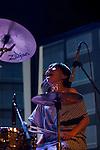 YOSHIMIO performs with Hisham Akira and Ryan Sawyer in Brooklyn.