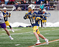 University at Albany Men's Lacrosse defeats Drexel 18-5 on Feb. 24 at Casey Stadium.  Drexel #19, Sean Valentino. (Photo by Bruce Dudek / Cal Sport Media/Eclipse Sportswire)