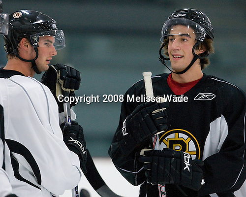 Jordan Knackstedt (43), Alain Goulet (51) - Prospects and free agent invitees took part in the final day of the 2008 Boston Bruins Development Camp on Saturday, July 12, 2008 at Ristuccia Arena in Wilmington, Massachusetts.