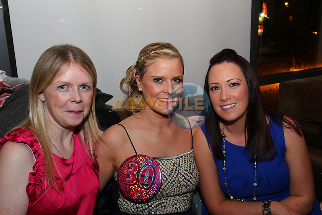 Michelle McKenna, Tina Wearen and Grace Byrne at Tina's 30th Birthday Party  in Bru.<br /> Picture: Shane Maguire / www.newsfile.ie