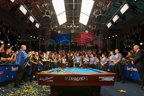 13.12.2012 London, England. Team Europe win the Mosconi Cup International Pool Championships  between Team Europe and Team America from York Hall.