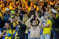 Maccabi Tel-Aviv supporters during the UEFA Champions League match between Chelsea and Maccabi Tel Aviv at Stamford Bridge, London, England on 16 September 2015. Photo by David Horn.
