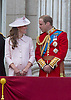 PRINCE WILLIAM AND KATE, DUCHESS OF CAMBRIDGE<br /> watch the flypast by the RAF on the balcony of Buckingham Palace during Trooping of the Colour.<br /> The Duke of Edinburgh missed the event as he is hospitalised after undergoing surgery.<br /> The Trooping marks the official birthday of the Queen_15/6/2013<br /> Mandatory Credit Photo: &copy;NEWSPIX INTERNATIONAL<br /> <br /> **ALL FEES PAYABLE TO: &quot;NEWSPIX INTERNATIONAL&quot;**<br /> <br /> IMMEDIATE CONFIRMATION OF USAGE REQUIRED:<br /> Newspix International, 31 Chinnery Hill, Bishop's Stortford, ENGLAND CM23 3PS<br /> Tel:+441279 324672  ; Fax: +441279656877<br /> Mobile:  07775681153<br /> e-mail: info@newspixinternational.co.uk