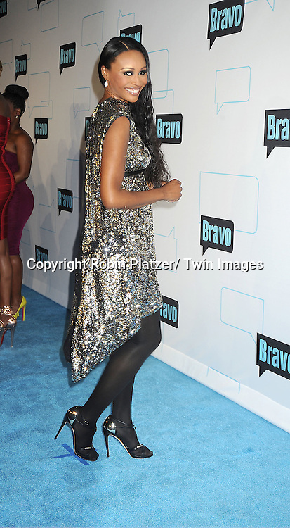 Real Housewives of Atlanta Cynthia Bailey attends the Bravo Upfront on April 4, 2012 at 548 West 22nd Street in New York City.