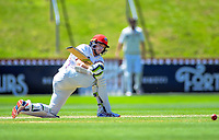 Canterbury's Tom Latham bats during day three of the Plunket Shield cricket match between the Wellington Firebirds and Canterbury at Basin Reserve in Wellington, New Zealand on Thursday, 31 October 2019. Photo: Dave Lintott / lintottphoto.co.nz