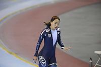 SCHAATSEN: SALT LAKE CITY: Utah Olympic Oval, 15-11-2013, Essent ISU World Cup, 500m, Sang-Hwa Lee (KOR), world record ©foto Martin de Jong