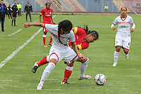 PASTO -COLOMBIA, 17-02-2017. Acción de juego entre el  Deportivo Pasto contra Cortuluá ,  encuentro  por la fecha 1 de la Liga Femenina Aguila I 2017  disputado en el estadio La Libertad ./ Action game between   Deportivo Pasto and Cortula during match for the date 1 of the Women's Soccer League Aguila I 2017 played at La Libertad  stadium . Photo:VizzorImage / Leonardo Castro / Contribuidor