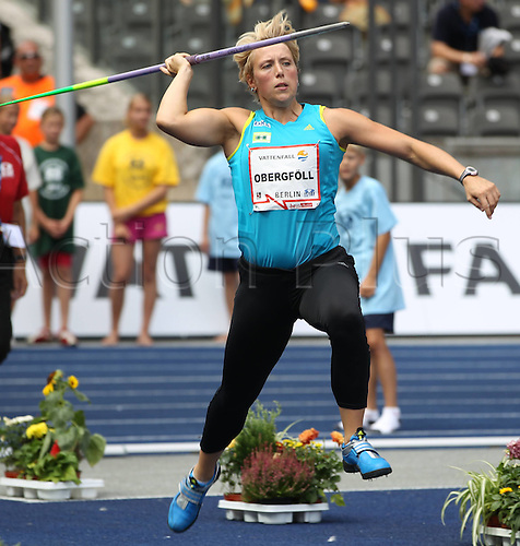 22 08 2010  Athletics ISTAF Berlin 2010 IAAF World Challenge 22 08 2010 Olympic Stadium Berlin Christina Obergfoll womens javelin Athletics