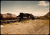 D&amp;RGW #484 K-36 with water car #00217.  Gondolas with pipe &amp; pipe to right side of track.<br /> D&amp;RGW  Farmington area ?, NM