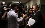 Nevada Assembly Majority Floor Leader Paul Anderson, R-Las Vegas, answers media questions after 1 a.m. at the Nevada Legislature in Carson City, Nev. on Friday, Oct. 14, 2016. In a weeklong special session, lawmakers approved the use of public funds to expand the convention center and build a domed stadium in Las Vegas. Cathleen Allison/Las Vegas Review-Journal