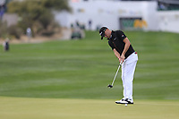 Justin Thomas (USA) on the 17th during the final round of the Waste Management Phoenix Open, TPC Scottsdale, Scottsdale, Arisona, USA. 03/02/2019.<br /> Picture Fran Caffrey / Golffile.ie<br /> <br /> All photo usage must carry mandatory copyright credit (&copy; Golffile | Fran Caffrey)