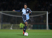 Jason Banton of Wycombe Wanderers in action during the Capital One Cup match between Wycombe Wanderers and Fulham at Adams Park, High Wycombe, England on 11 August 2015. Photo by Andy Rowland.