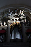 The organ inside San Giorgio Church, Venice, Italy