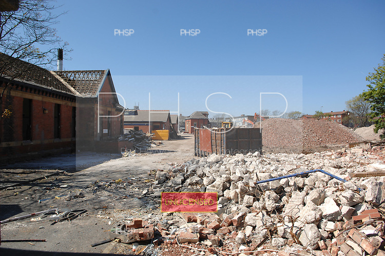 Blackpool 02.05.07.Devonshire Rd Hospital Demolition-former main Devonshire Rd entrance.