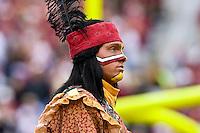 November 21, 2009:   Florida State mascot Chief Osceola during Atlantic Coast Conference action between the Maryland Terrapins and Florida State Seminoles at Doak Campbell Stadium in Tallahassee, Florida.  Florida State defeated Maryland 29-26.