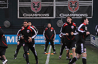 DC United Assistant Coach Chad Ashton during pre-game warm ups.   Chicago Fire tied DC United 1-1 at  RFK Stadium, Saturday March 28, 2009.