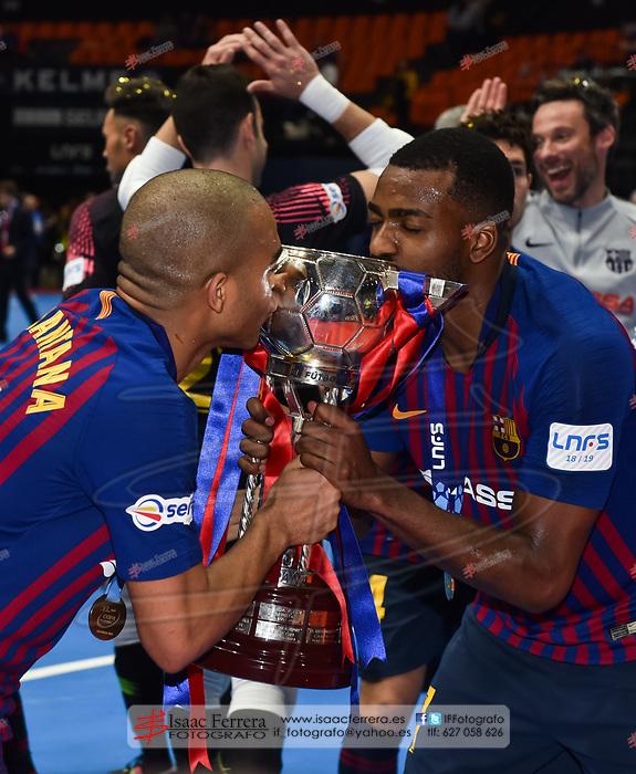 XXX Copa de España de Futbol Sala - LNFS <br /> Valencia 2019.<br /> <br /> Final<br /> <br /> ElPozo Murcia 1 - 2 Barça Lassa<br /> <br /> Pabellon de la Fuente de San Luis (Valencia - España)<br /> <br /> 3 de marzo de 2019.