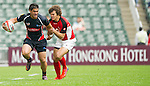 Canada vs Philippines during Day 1 of the Cathay Pacific / HSBC Hong Kong Sevens 2012 at the Hong Kong Stadium in Hong Kong, China on 23rd March 2012. Photo © Manuel Queimadelos / PSI for Marco Polo Hong Kong Hotel