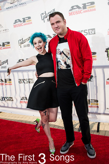 Hayley Williams of Paramore and Chad Gilbert of New Found Glory attend the 2014 AP Music Awards at the Rock And Roll Hall Of Fame and Museum at North Coast Harbor in Cleveland, Ohio.