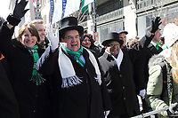 Montreal, CANADA - File Photo - Montreal Mayor Denis Coderre attend the  Saint-Patrick parade 2014.<br /> <br /> Photo : Agence Quebec Presse - Pierre Roussel