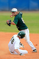 Dartmouth Big Green infielder Matt Parisi (6) during a game against the University of Alabama at Birmingham Blazers at Chain of Lakes Stadium on March 17, 2013 in Winter Haven, Florida.  Dartmouth defeated UAB 4-0.  (Mike Janes/Four Seam Images)