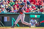 4 March 2013: Minnesota Twins outfielder Brandon Boggs hits a solo home run during a Spring Training game against the St. Louis Cardinals at Roger Dean Stadium in Jupiter, Florida. The Twins shut out the Cardinals 7-0 in Grapefruit League play. Mandatory Credit: Ed Wolfstein Photo *** RAW (NEF) Image File Available ***