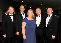 Ciaran O'hAnnrachain, Letterkenny IT, Ralf Burbach, DIT, Cait Ni Nuadhain, GMIT, Adrian Gregan,  Cork IT and Clement Ryan, DIT, at the Irish Hotels Federation Conference Gala Dinner in The Malton Hotel, Killarney on Tuesday night. Picture: MacMonagle, Killarney.