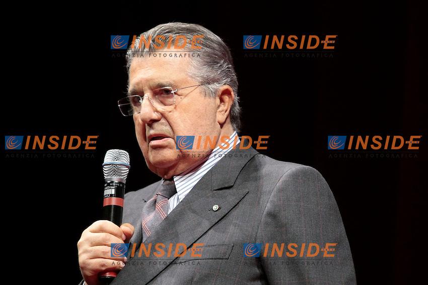 Carlo De Benedetti<br /> Roma 07-04-2014 Teatro Argentina. 90 anni di Eugenio Scalfari.<br /> Photo Samantha Zucchi Insidefoto