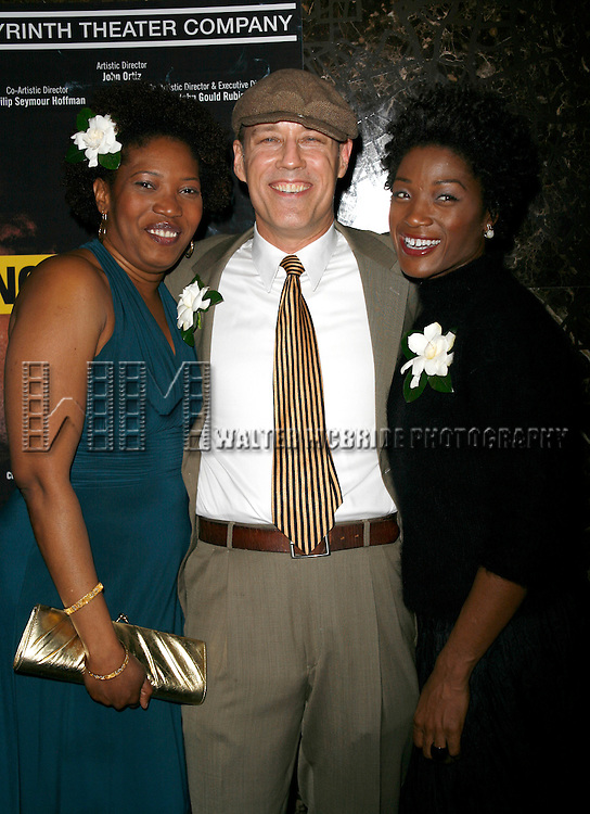 Saidah Arrika Ekulona & Kevin Geer & Yolonda Ross attending the Opening Night for the Labyrinth Theater Company's World Premiere of a New Play UNCONDITIONAL at the Public Theatre with an after party at Colors Restaurant in New York City.<br /> February 18, 2008